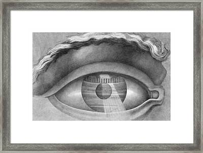 Eye Enclosing The Theatre At Besancon France Framed Print by Claude Nicolas Ledoux
