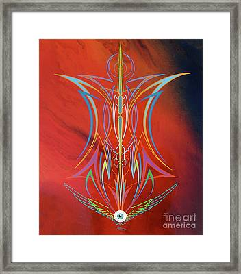 Eye Flying Framed Print