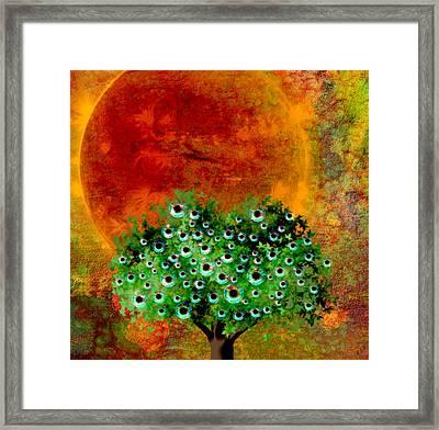 Eye Like Apples Framed Print by Ally  White