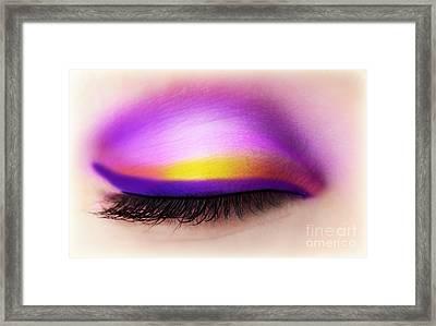 Eye Makeup Framed Print by Anna Om