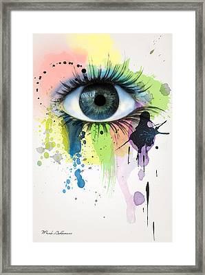 eye Framed Print by Mark Ashkenazi