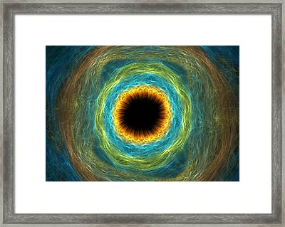 Eye Iris Framed Print by Martin Capek