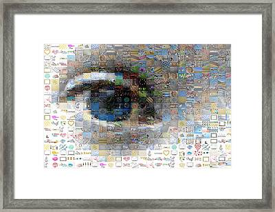 Eye Mosaic Framed Print by Delphimages Photo Creations