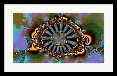 Algorithmic Abstract Framed Prints