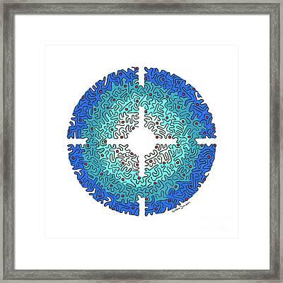 Eye Of Creation 3 Framed Print by Willem Janssen