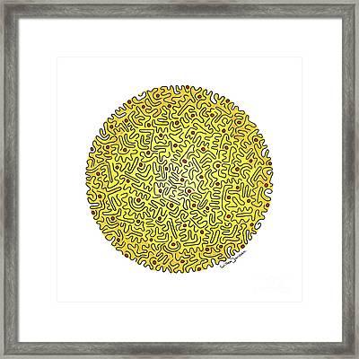 Eye Of Creation 4 Framed Print by Willem Janssen