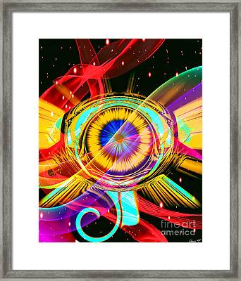 Eye Of Horus Framed Print by Eleni Mac Synodinos