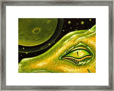 Eye Of Moon Crater Framed Print by Elaina  Wagner