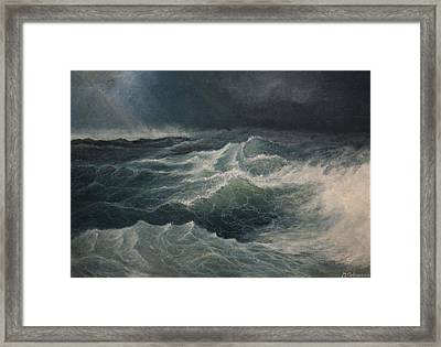 Eye Of Storm Framed Print