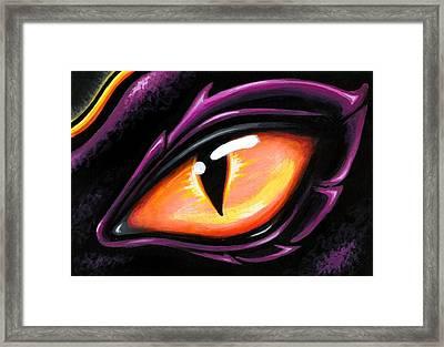 Eye Of Sun Aura Framed Print by Elaina  Wagner