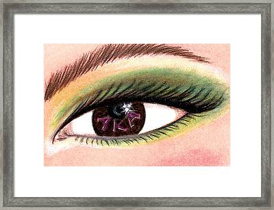Eye Of The Beholder Series- A K A Framed Print by BFly Designs