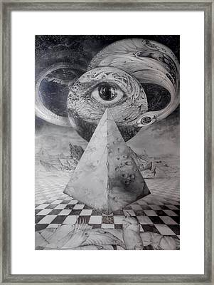 Eye Of The Dark Star - Journey Through The Wormhole Framed Print