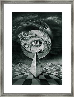 Eye Of The Dark Star Framed Print by Otto Rapp