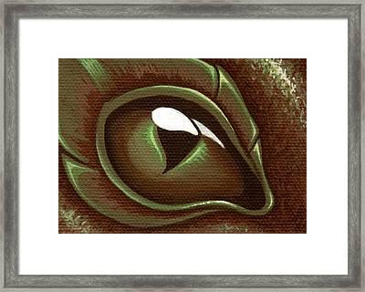 Eye Of The Forest Dragon Hatchling Framed Print by Elaina  Wagner