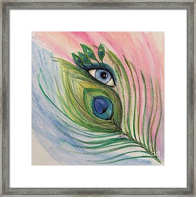 Eye Of The Peacock Framed Print