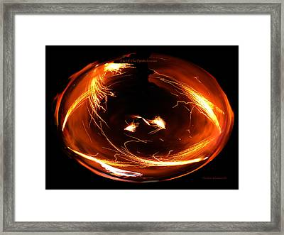 Eye Of The Pyrotechnician Framed Print by Thomas Woolworth