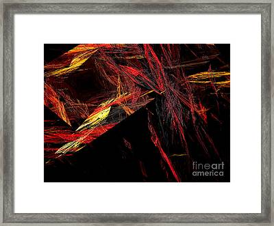 Eye Of The Storm 1 - Direct Hit - Abstract - Fractal Art Framed Print by Andee Design