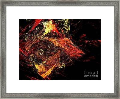 Eye Of The Storm 3 - Mass Chaos - Abstract - Fractal Art Framed Print by Andee Design