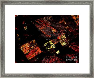 Eye Of The Storm 4 - Flying Debris - Abstract - Fractal Art Framed Print by Andee Design