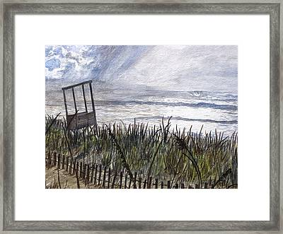 Eye Of The Storm Framed Print by Kevin F Heuman