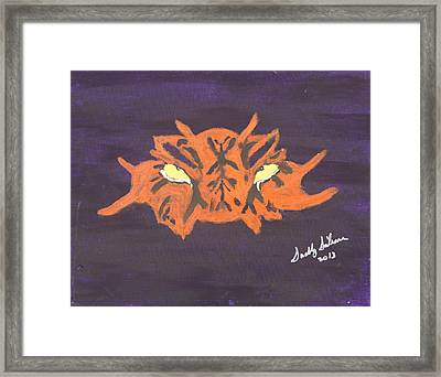 Eye Of The Tiger Framed Print by Swabby Soileau