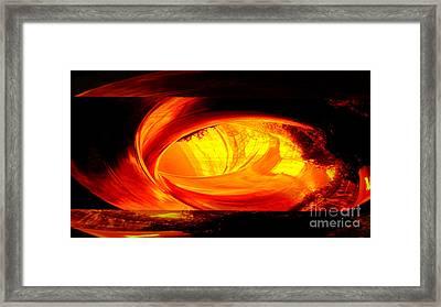 Eye Of The Tube Framed Print