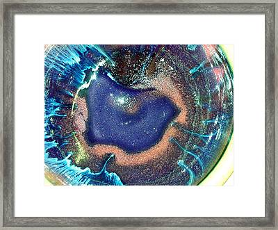 Eye Of The Universe Acqunavy Framed Print by Richard Sean Manning