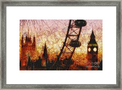 Eye On London Framed Print by Mo T