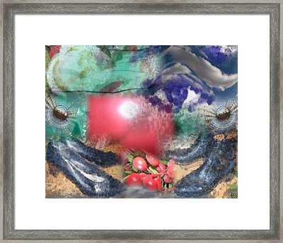 Framed Print featuring the digital art Eye On Shoes by Kelly McManus