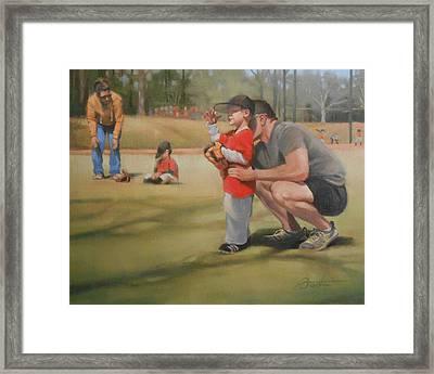 Eye On The Ball Framed Print