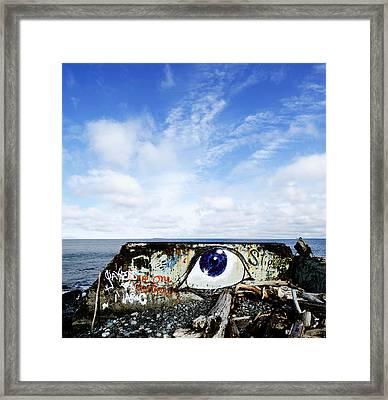 Eye On The Strait Framed Print