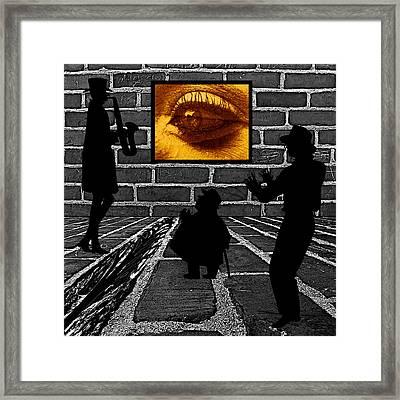 Eye On The Wall Framed Print by Barbara St Jean