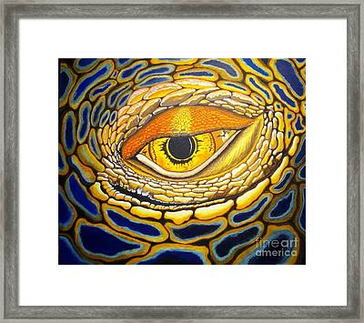 Eye On You Framed Print by Barry Bridges