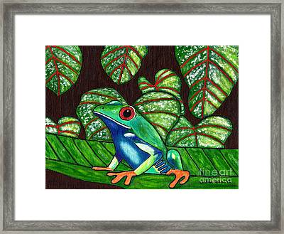Framed Print featuring the painting Eye On You by Laura Forde