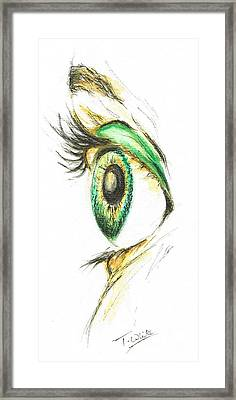 Eye Opener Framed Print