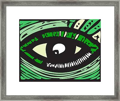 Eye Run It  Framed Print