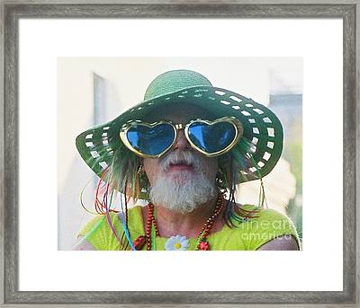 eye see Colours Of Specs Of Love At Southern Decadence In New Orleans Louisiana Framed Print by Michael Hoard