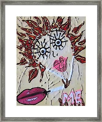 Eye Smoke Discrimination  Framed Print