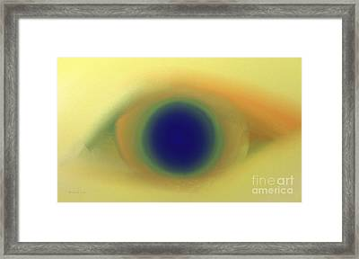 Eye Spy Abstract Framed Print by Andee Design