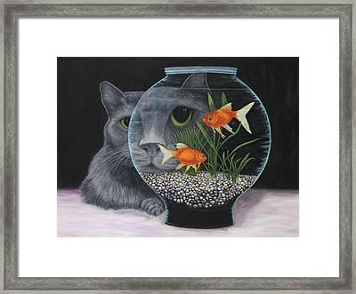 Framed Print featuring the painting Eye To Eye by Karen Zuk Rosenblatt