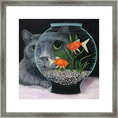 Framed Print featuring the painting Eye To Eye Sq by Karen Zuk Rosenblatt