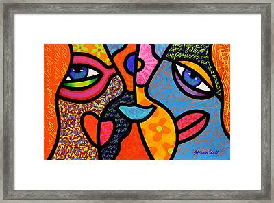 Eye To Eye Framed Print by Steven Scott