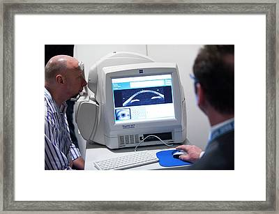 Eye Tomography Scanner Demonstration Framed Print by Dan Dunkley