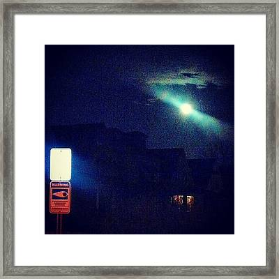 Eye Watch The Moon Framed Print