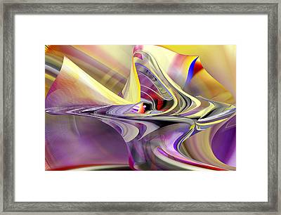 Eye Watcher - Abstract Art Framed Print
