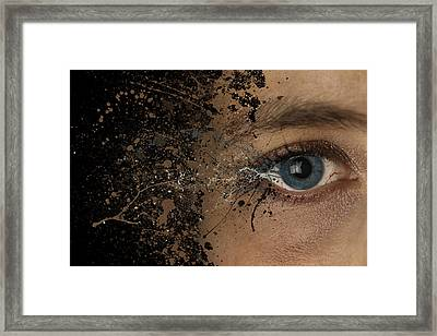 Eye Woman Abstract Explosion  Framed Print
