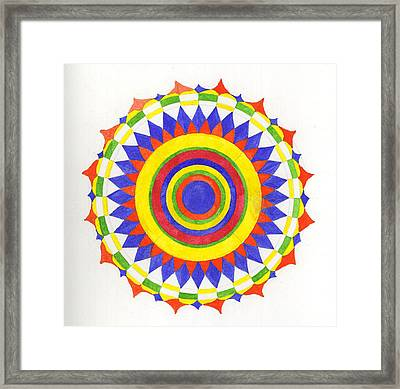 Eye World Mandala Framed Print by Silvia Justo Fernandez