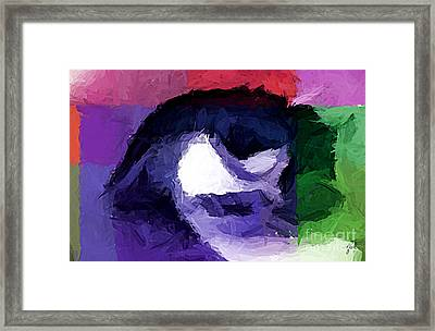 Framed Print featuring the digital art Eye by Zedi