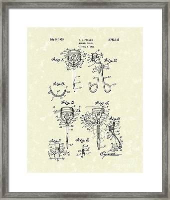 Eyelash Curler 1955 Patent Art Framed Print by Prior Art Design