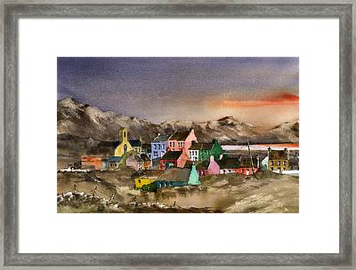 Eyeries Village Beara West Cork Framed Print